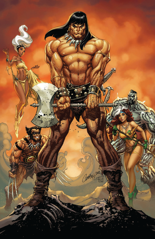 CONAN THE BARBARIAN #1 UNKNOWN COMIC BOOKS EXCLUSIVE VIRGIN CAMPBELL 1/2/2019