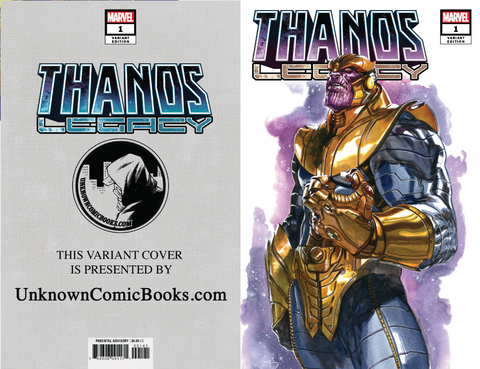 THANOS LEGACY #1 UNKNOWN COMIC BOOKS DELLOTTO VAR 9/5/2018