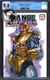 THANOS LEGACY #1 UNKNOWN COMIC BOOKS DELLOTTO  EXCLUSIVE VAR CGC 9.8 BLUE LABEL 12/30/2018