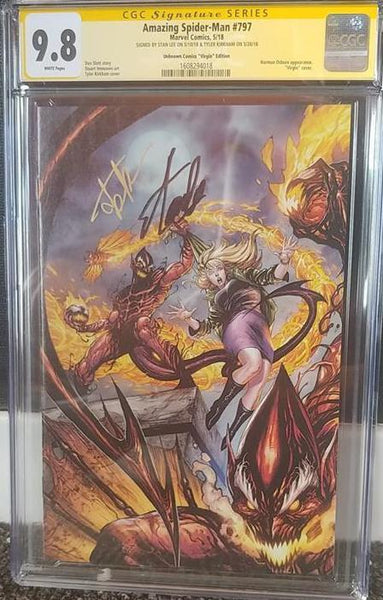 AMAZING SPIDER-MAN #797 UCB STAN LEE KIRKHAM CVR B CGC 9.8 SS YELLOW LABEL 7/11/2018