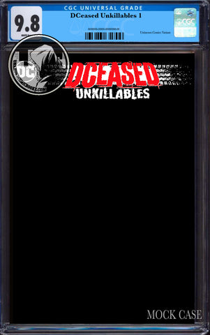 DCEASED UNKILLABLES #1 (OF 3) UNKNOWN COMICS BLACK BLANK EXCLUSIVE VAR CGC 9.8 BLUE LABEL (06/30/2020)