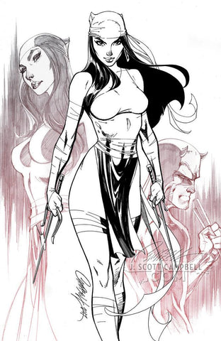 ELEKTRA #1 J. SCOTT CAMPBELL EXCLUSIVE CVR C