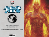 FANTASTIC FOUR #1 UNKNOWN COMIC BOOKS ARTGERM HUMAN TORCH VIRGIN VAR 8/8/2018