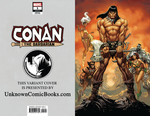 CONAN THE BARBARIAN #1 UNKNOWN COMIC BOOKS EXCLUSIVE VIRGIN CAMPBELL