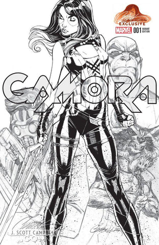GAMORA #1 J. SCOTT CAMPBELL EXCLUSIVE CVA C