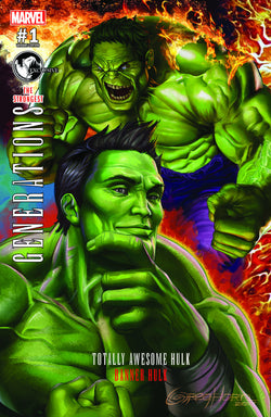 GENERATIONS BANNER HULK & TOTALLY AWESOME HULK #1 CONNECTING UNKNOWN COMIC BOOKS EXCLUSIVE HORN VAR 8/2/2017
