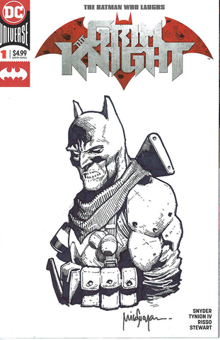 BATMAN WHO LAUGHS THE GRIM KNIGHT #1 BLANK VAR ED SKETCH BY MICO SUAYAN 4/17/2019