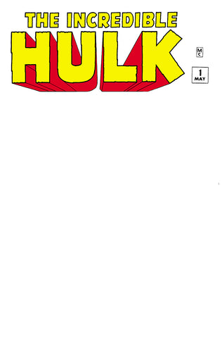 INCREDIBLE HULK #1 FACSIMILE EDITION UNKNOWN COMICS BLANK EXCLUSIVE (10/23/2019)