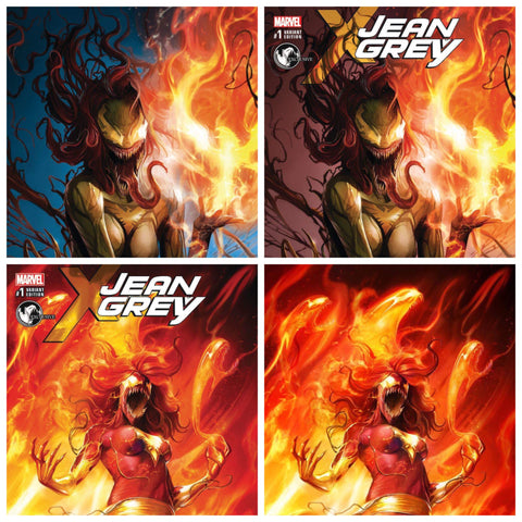 JEAN GREY #1 UNKNOWN COMIC BOOKS EXCLUSIVE 4 PACK CVR A & B W/ VIRGINS (05/03/2017)