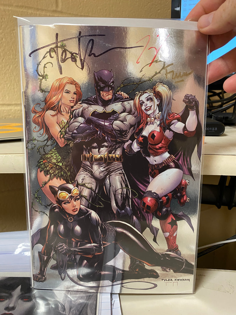 SIGNED W/ COA TRIPLE SIGNED BATMAN REBIRTH
