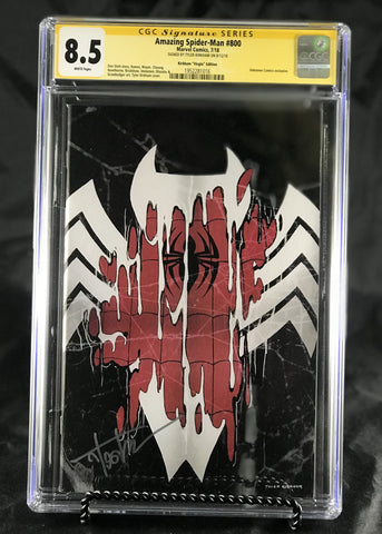 AMAZING SPIDER-MAN #800 UNKNOWN COMIC BOOKS CUSTOMER APPRECIATION KIRKHAM CGC 8.5 SS YELLOW LABEL 9/1/2018