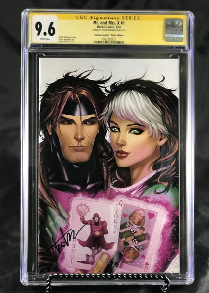 MR AND MRS X #1 UNKNOWN COMIC BOOKS KIRKHAM CUSTOMER APPRECIATION COVER VIRGIN CGC 9.6 SS YELLOW LABEL 10/30/2018