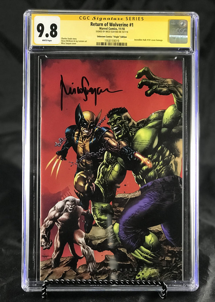d6358d9f645 RETURN OF WOLVERINE #1 (OF 5) UNKNOWN COMIC BOOKS MICO SUAYAN CGC VIRGIN  9.8 SS YELLOW LABEL 1/30/2019