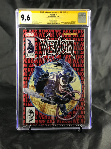VENOM #1 UNKNOWN COMIC BOOKS & KRS EXCLUSIVE 9.6 CGC SS YELLOW LABEL MAYHEW 8/1/2018