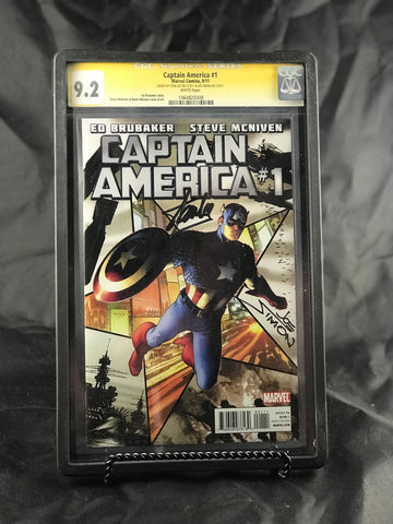 CAPTAIN AMERICA #1 6/20/2011 CGC 9.2 SS YELLOW LABEL STAN LEE JOE SIMON