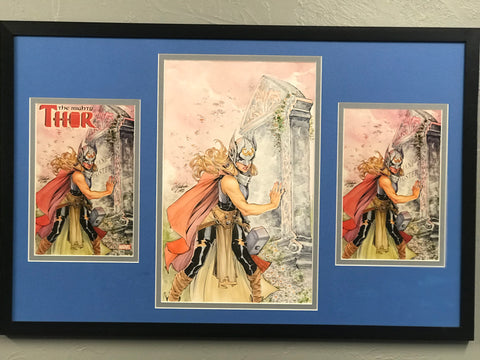 MIGHTY THOR ORIGINAL COVER ART BY SIYA OUM WATER COLORS