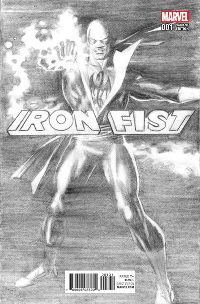 IRON FIST #1 ROSS B&W 1:100