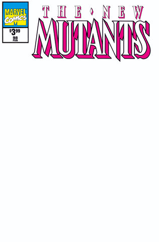 NEW MUTANTS #98 FACSIMILE EDITION BLANK EXCLUSIVE ANNA ZHUO SKETCH (09/30/2019)