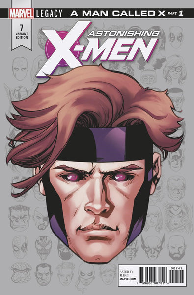 ASTONISHING X-MEN #7 MCKONE LEGACY HEADSHOT VAR LEG 1:10 1/3/2018