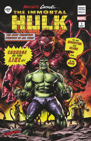 ABSOLUTE CARNAGE IMMORTAL HULK #1 UNKNOWN COMICS MICO SUAYAN NYCC 2019 VAR AC (10/09/2019)