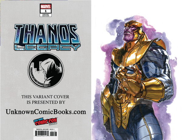 THANOS LEGACY #1 UNKNOWN COMIC BOOKS DELLOTTO NYCC 2018 EXCLUSIVE VAR 2 PACK 9/5/2018