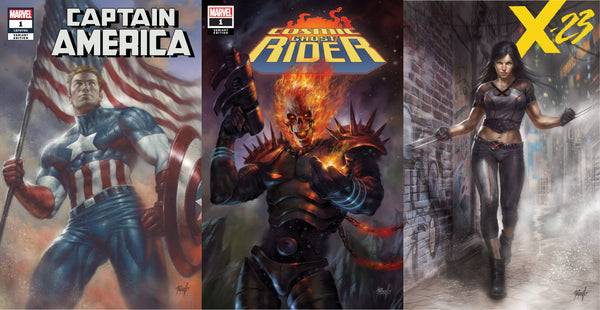 CAPTAIN AMERICA #1 COSMIC GHOST RIDER #1 & X-23 #1 LUCIO PARRILLO 3 PACK 7/11/2018