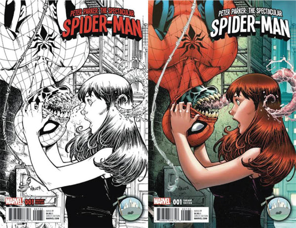 PETER PARKER SPECTACULAR SPIDER-MAN #1 NYCC TODD NAUCK 2 PACK