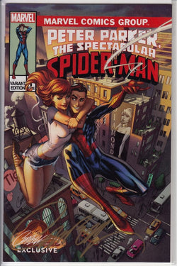 PETER PARKER SPECTACULAR SPIDER-MAN #1 J. SCOTT CAMPBELL EXCLUSIVE CVR B