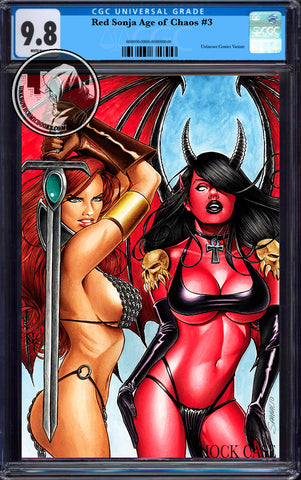 RED SONJA AGE OF CHAOS #3 UNKNOWN COMICS MARK SPARCIO EXCLUSIVE VIRGIN VAR CGC 9.8 BLUE LABEL (08/26/2020)