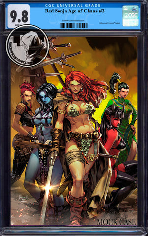 RED SONJA AGE OF CHAOS #3 UNKNOWN COMICS KAEL NGU EXCLUSIVE VIRGIN VAR CGC 9.8 BLUE LABEL (08/26/2020)