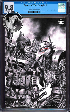"BATMAN WHO LAUGHS #4 (OF 6) UNKNOWN COMIC BOOKS SUAYAN EXCLUSIVE ""REMARK"" EDITION CGC 9.8 BLUE LABEL 7/30/2019"