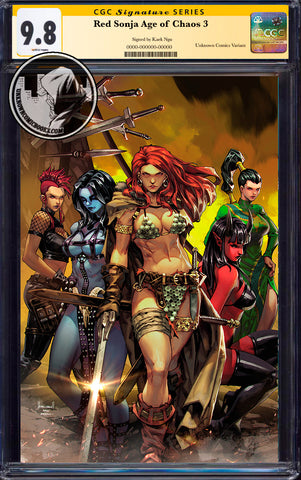 RED SONJA AGE OF CHAOS #3 UNKNOWN COMICS KAEL NGU EXCLUSIVE VIRGIN VAR CGC 9.8 SS YELLOW LABEL (08/26/2020)