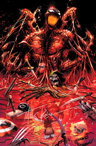 SIGNED W/COA ABSOLUTE CARNAGE #1 (OF 4) TYLER KIRKHAM EXCLUSIVE VIRGIN (09/25/2019)