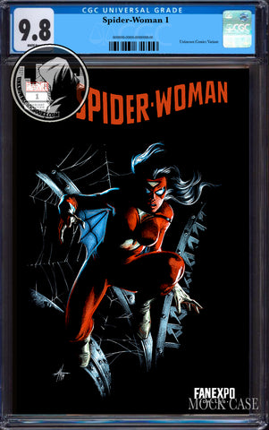 SPIDER-WOMAN #1 UNKNOWN COMICS EXCLUSIVE DELL'OTTO FANEXPO DALLAS VAR CGC 9.8 BLUE LABEL (08/26/2020)