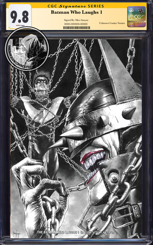BATMAN WHO LAUGHS #1 (OF 6) UNKNOWN COMIC BOOKS EXCLUSIVE SUAYAN CVR B CGC 9.6+ SS YELLOW LABEL 5/30/2019