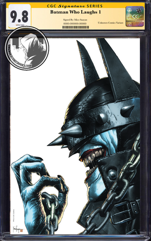 BATMAN WHO LAUGHS #1 (OF 6) UNKNOWN COMIC BOOKS EXCLUSIVE SUAYAN FULL VIRIGN CGC 9.6+ SS YELLOW LABEL 5/30/2019