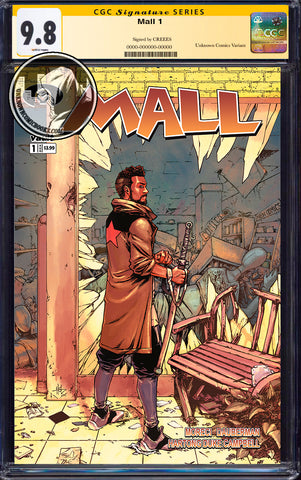 MALL #1 UNKNOWN COMICS CREEES EXCLUSIVE (MR) CGC 9.8 SS YELLOW LABEL (01/30/2020)