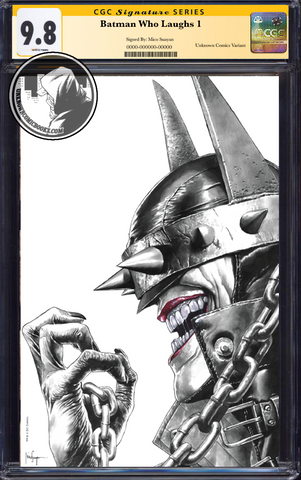 BATMAN WHO LAUGHS #1 (OF 6) UNKNOWN COMIC BOOKS EXCLUSIVE SUAYAN REMARK EDITION CGC 9.6+ SS YELLOW LABEL 5/30/2019