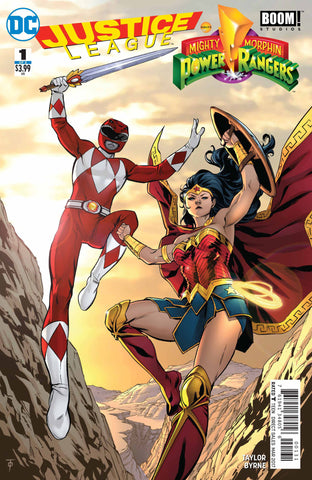 JUSTICE LEAGUE POWER RANGERS #1 (OF 6) WONDER WOMAN RED RANG