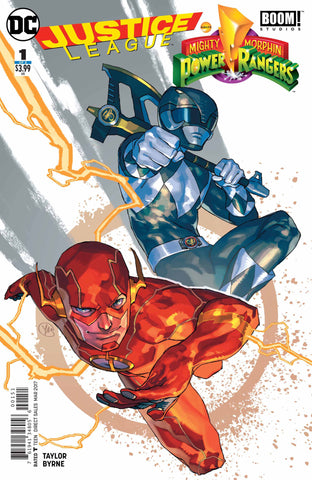 JUSTICE LEAGUE POWER RANGERS #1 (OF 6) FLASH BLACK RANGER VA