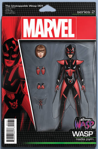 UNSTOPPABLE WASP #1 CHRISTOPHER ACTION FIGURE VAR NOW