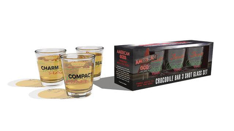 AMERICAN GODS CROCODILE BAR SHOT GLASS SET (C: 0-1-2) 9/26/2018