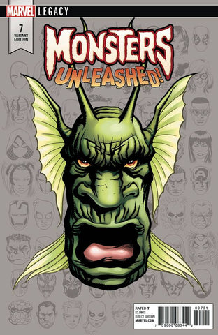 MONSTERS UNLEASHED #7 MCKONE LEGACY HEADSHOT VAR LEG 10/18/2017 1:10 RATIO