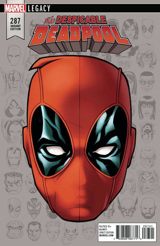DESPICABLE DEADPOOL #287 MCKONE LEGACY HEADSHOT VAR LEG 10/11/2017 1:10 RATIO