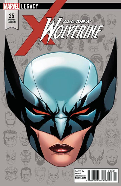 ALL NEW WOLVERINE #25 MCKONE LEGACY HEADSHOT VAR LEG 10/11/2017 1:10 RATIO