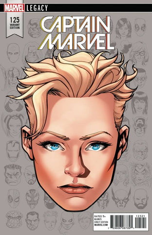 CAPTAIN MARVEL #125 MCKONE LEGACY HEADSHOT VAR LEG 10/25/2017 1:10 RATIO