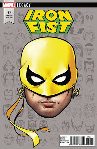 IRON FIST #73 MCKONE LEGACY HEADSHOT VAR LEG 10/4/2017 1:10 RATIO