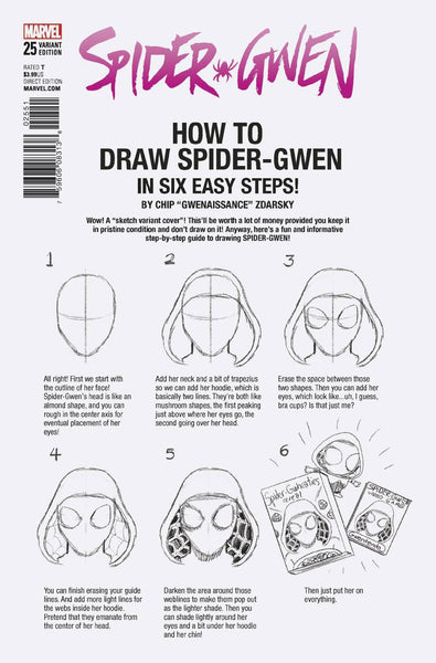 SPIDER-GWEN #25 ZDARSKY HOW TO DRAW VAR LEG 10/18/2017