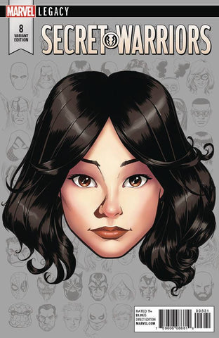 SECRET WARRIORS #8 MCKONE LEGACY HEADSHOT VAR LEG 11/15/2017 1:10 RATIO