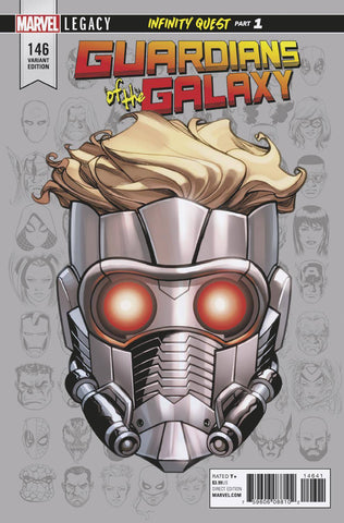 GUARDIANS OF GALAXY #146 MCKONE LEGACY HEADSHOT VAR LEG 11/01/2017 1:10 RATIO